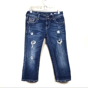 Miss me distressed cropped jeans 27